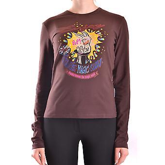 Frankie Morello Ezbc167030 Women's Brown Cotton Sweater