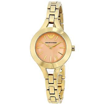 Emporio Armani vestido de ouro-tom senhoras Watch Ar7417