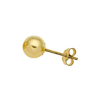 Gents 9ct Yellow Gold 5mm Ball Stud Ohrring-Single Stud-The Olivia Collection