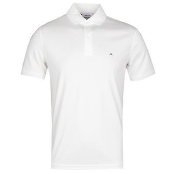 Calvin Klein Soft interlock Slim Fit valkoinen poolo paita