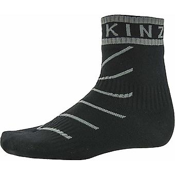 SealSkinz Super Thin Pro Ankle Sock With Hydrostop - Black/Grey