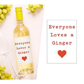 Everyone Loves A Ginger Wine Bottle Label