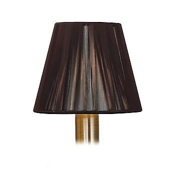 Mantra Clip On Silk String Shade Dark Brown 80/130mm X 110mm