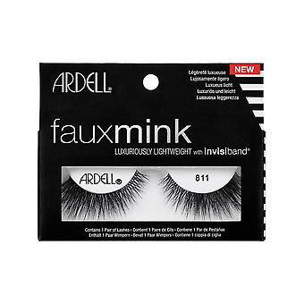 Ardell Faux Mink 811 Eye Lashes Lightweight Invisiband Full Lash Look