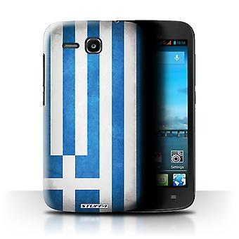 STUFF4 Case/Cover for Huawei Ascend Y600/Greece/Greek/Flags