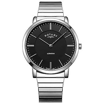 Rotary Mens London Stainless Steel Expanding Bracelet GB02765/04 Watch