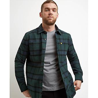 Lyle & Scott Tartan Overshirt - Jade Green