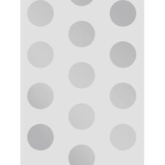 Big Dots Polka Dot Wallpaper Silver / Grey A617 CAO 4