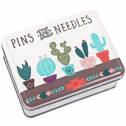 Pins and Needles Metal Tin