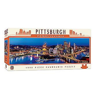 Pittsburgh Pennsylvania 1000 piece panoramic jigsaw puzzle 990mm x 330mm (mpc)