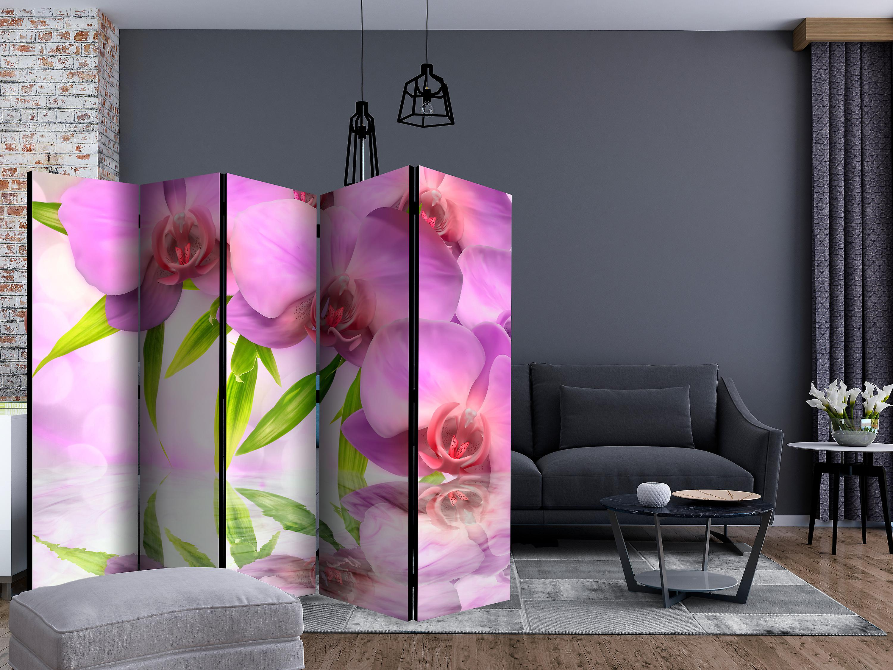 Paravent 5 volets - Orchid Spa II [Room Dividers]
