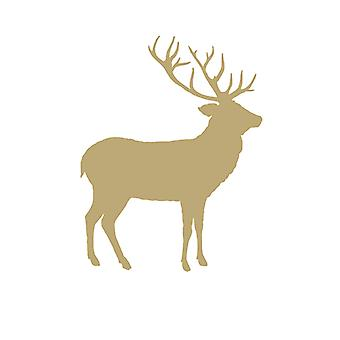 Ambiente 3 Ply Paper Napkins, White and Gold Deer Contour