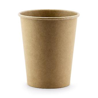 6 Kraft Paper Party Cups - 220ml