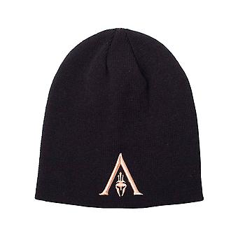 Assassins Creed Odyssey Beanie Hat Helmet Logo new Official  Black