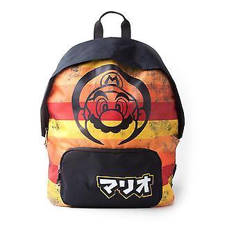 Super Mario Retro Striped backpack satchel Bag 41x31x14cm