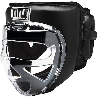 Titel Boxing Faceshield No-Contact 2.0 Training Kopfbedeckung - Schwarz
