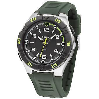 SINAR jeugd horloge polshorloge analoge Quartz siliconen band zaklamp XD-45-3