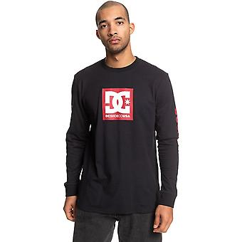 DC Square Star 2 Long Sleeve T-Shirt in Black/Chili Pepper