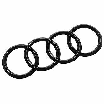Gloss Black Audi Ring Rear Boot Badge Emblem For Q3 Q5 Q7 A6 A7