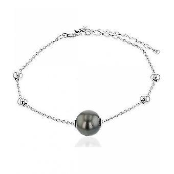 Luna-Pearls Beaded Bracelet Tahitiperle 10-11 mm 925 Silver 3001203
