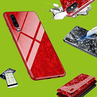 For Apple iPhone X 10 5.8 / XS 5.8 2018 Color Effect Phone Cover Red Case Case + H9 Hard Glass