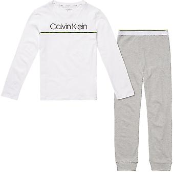 Calvin Klein  Boys Knit PJ Set, Grey / White, Age 12-14