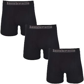 Lambretta Mens 3pk Trunk Elasticated Underwear Boxer Short Gift Set - Black