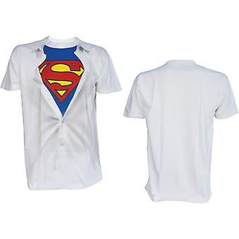 T-Shirt - DC Comics - Superman Logo White Costume Tee Men Large
