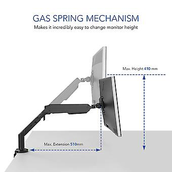 Full Motion Dual Arm Desk Monitor Mount Stand Fits 17