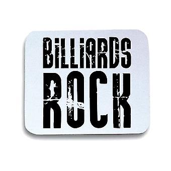 White mouse pad pad wtc1045 billiards rock