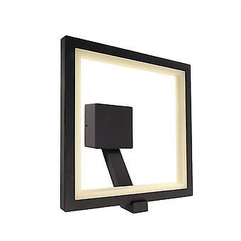 LED wall-mounted lamp Lyncis 10W 3000K 300x315mm dark grey aluminium