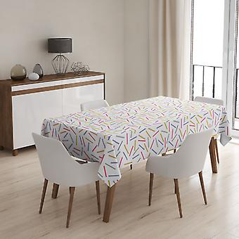 Meesoz Tablecloth - Gold Pink Grey Lines