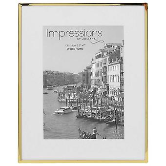 Juliana Impressions Brass Plated Photo Frame 5x7 - Gold