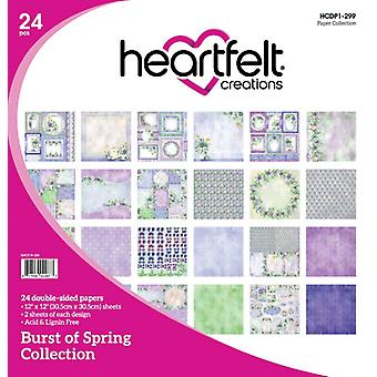 "Heartfelt Creations Double-Sided Paper Pad 12""X12"" 24/Pkg-Burst Of Spring"