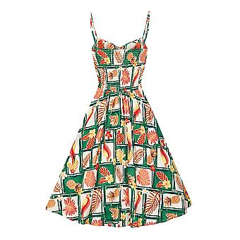 Collectif Vintage Women's Fairy Tropical Bamboo Doll Dress