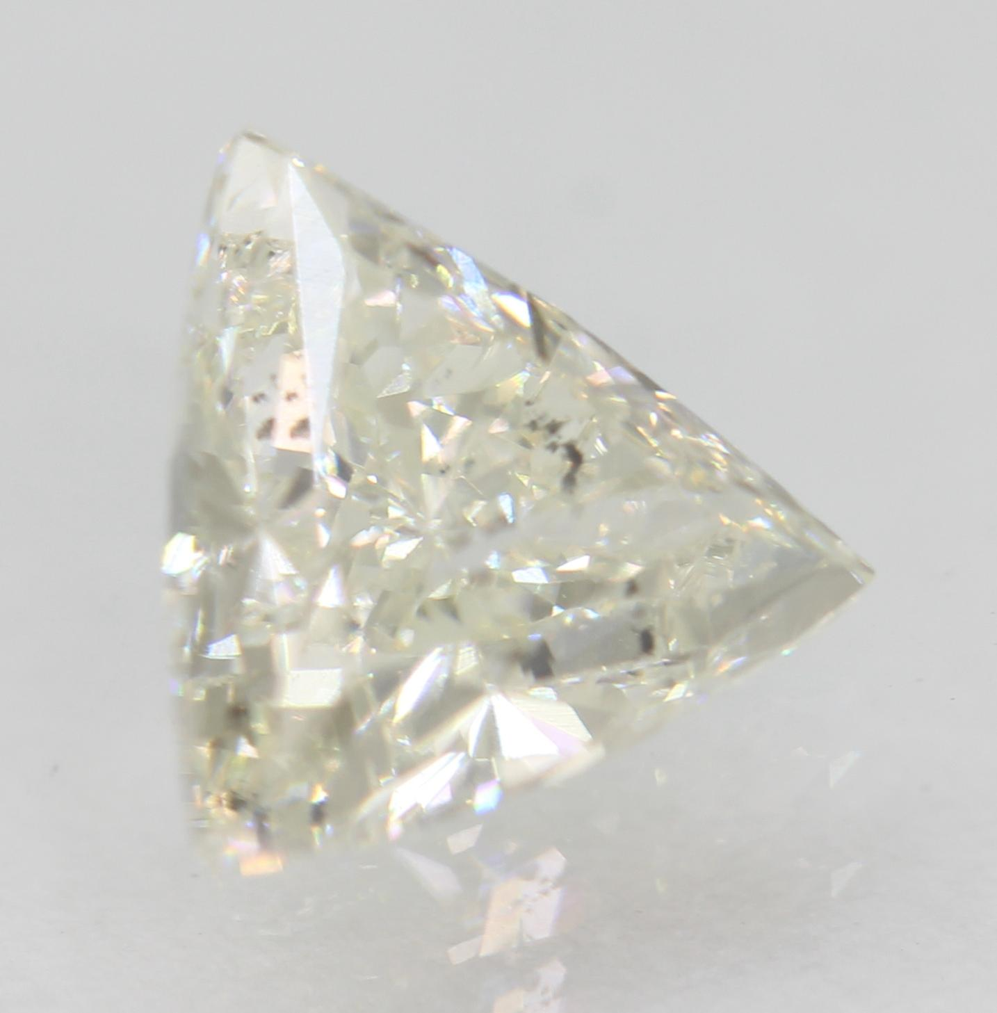 Certified 0.85 Carat G SI1 Triangle Natural Loose Diamond For Ring 7.16x6.6mm