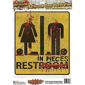 Bristol Novelty Bloody Unrestroom Door Sticker