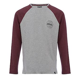 Animal Mark Long Sleeve T-Shirt in Grey Marl