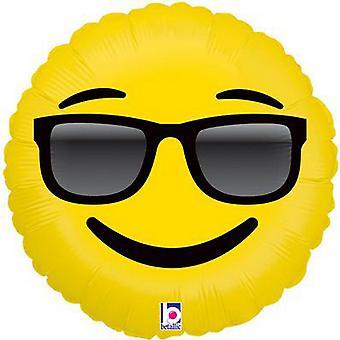Oaktree Emoji Sunglasses Betallic Foil Balloon