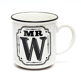 History & Heraldry Alphabet Mugs-mr W