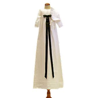 Dopklänning Med Dophätta, Mörk-grön Rosett. Grace Of Sweden