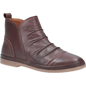 Riva Womens Kefalonia Leather Zip Ankle Boot Choco