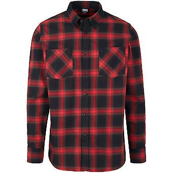 Urban Classics Men's Long Sleeve Shirt Checked Flannel 6