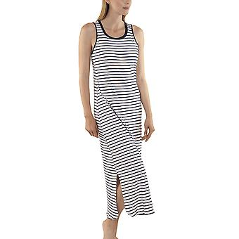 Lisca 23277-WB Women's Francis White-Blue Striped Nightdress