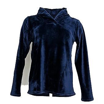 Cuddl Duds Women's Pajama Top Ultra Plush Velvet Fleece Blue A369296