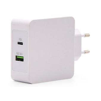 Chargeur de mur USB TooQ TQWC-2SC03WT