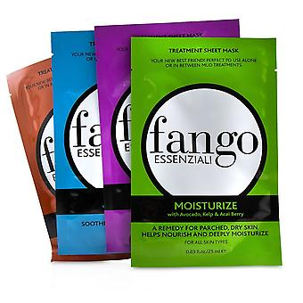 Fango Essenziali Treatment Sheet Mask Box Set (1x Moisturize Mask, 1x Purify Mask, 1x Calm Mask, 1x Energize Mask) 4x25ml/0.83oz