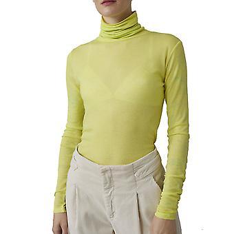 Closed C9511542c22463 Women's Yellow Cotton Sweater