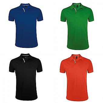 SOLS Mens Portland Short Sleeve Pique Polo Shirt