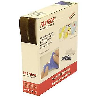 FASTECH® B20-STD073810 Hook-and-loop tape sew-on Hook and loop pad (L x W) 10 m x 20 mm Brown 10 m